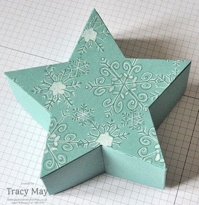 How to make a shaped box. Star Shaped Gift Box - Step 1