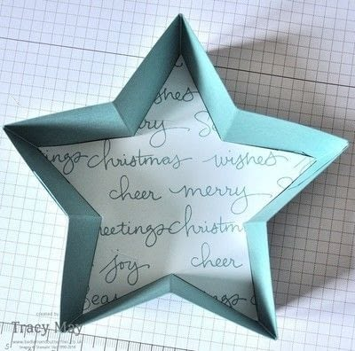 How to make a shaped box. Star Shaped Gift Box - Step 6