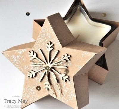 How to make a shaped box. Star Shaped Gift Box - Step 7