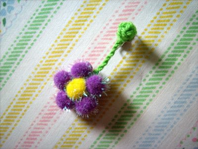 How to make a clip-on earring. Daisy Pom Pom Earrings - Step 9