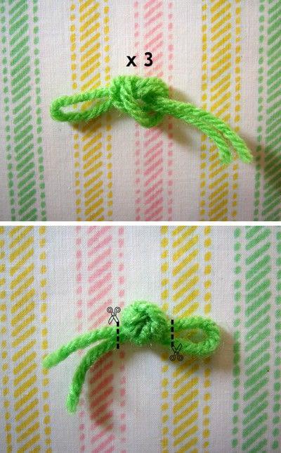 How to make a clip-on earring. Daisy Pom Pom Earrings - Step 4