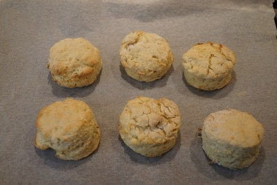 How to bake a biscuit / scone. Lemon And Thyme Scones With Lavender Butter - Step 4