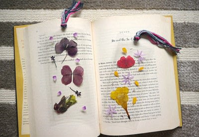 How to make a bookmark. Diy Pressed Flower Laminated Bookmarks - Step 7