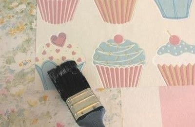 How to make wallpaper / a wall painting. Patchwork Wallpaper - Step 2