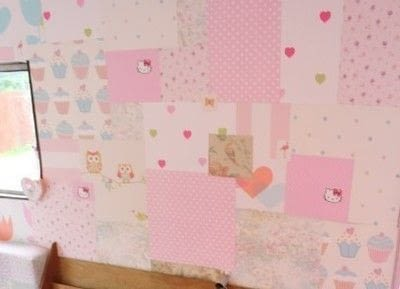 How to make wallpaper / a wall painting. Patchwork Wallpaper - Step 3