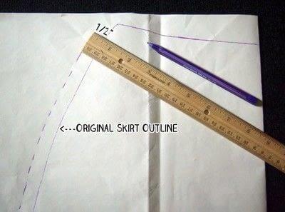 How to make a wrap skirt. Easy Breezy Wrap Skirt - Step 2