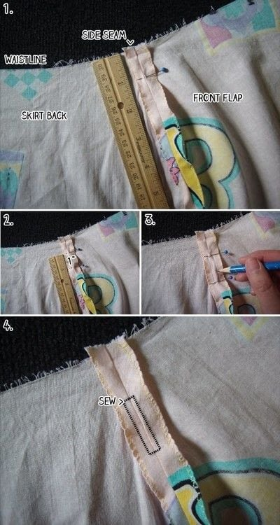 How to make a wrap skirt. Easy Breezy Wrap Skirt - Step 16
