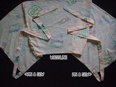 How to make a wrap skirt. Easy Breezy Wrap Skirt - Step 20