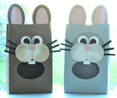 How to make a gift bag. Novelty Gift Bags   Bunnies - Step 6