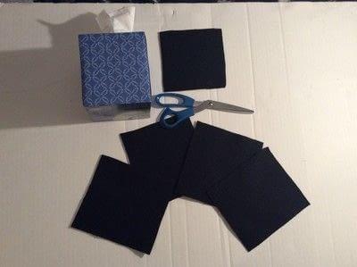 How to make stationery. Diy Jack Skellington Tissue Box Cover - Step 1