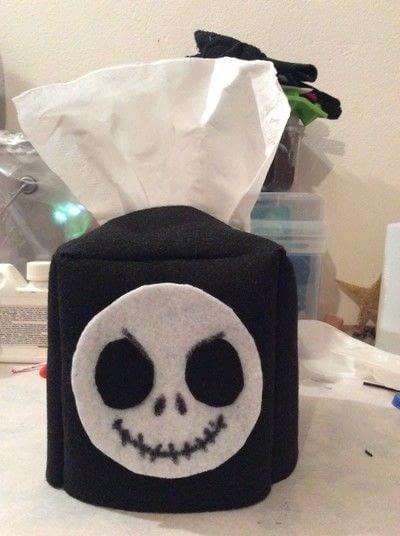 How to make stationery. Diy Jack Skellington Tissue Box Cover - Step 8