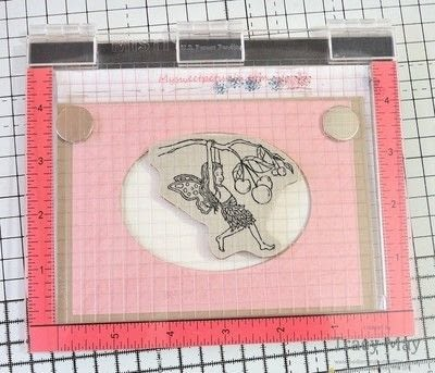 How to make a greetings card. Magic Slider Card -  Fairy Celebration - Step 5