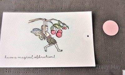 How to make a greetings card. Magic Slider Card -  Fairy Celebration - Step 8