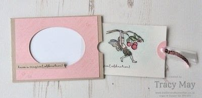 How to make a greetings card. Magic Slider Card -  Fairy Celebration - Step 9