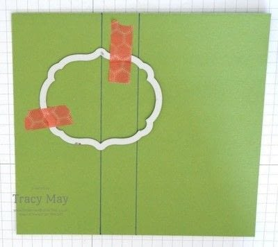How to make a greetings card. Flip Card Using A Label Die - Step 1