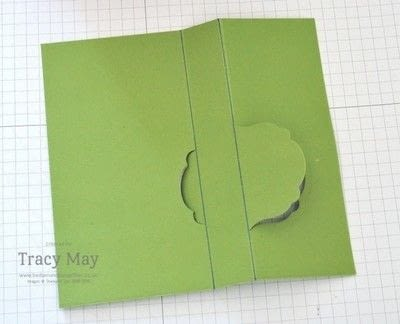 How to make a greetings card. Flip Card Using A Label Die - Step 4