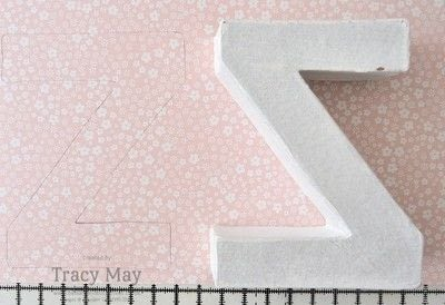 How to make a letter. Decorated Name Gift Using Card Board Letters - Step 1