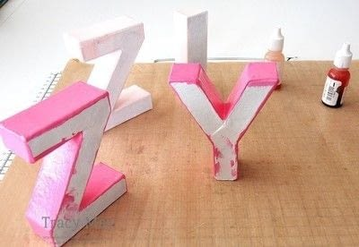 How to make a letter. Decorated Name Gift Using Card Board Letters - Step 4
