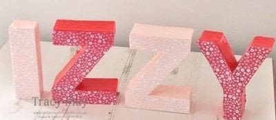 How to make a letter. Decorated Name Gift Using Card Board Letters - Step 5