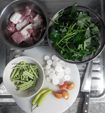 How to cook a pork dish. Sinigang Na Baboy - Step 1