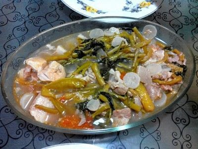 How to cook a pork dish. Sinigang Na Baboy - Step 3