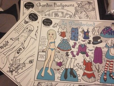 How to make a toy. Durable Paper Doll Play Set - Step 2
