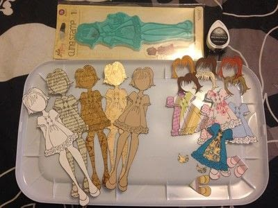 How to make a toy. Durable Paper Doll Play Set - Step 3