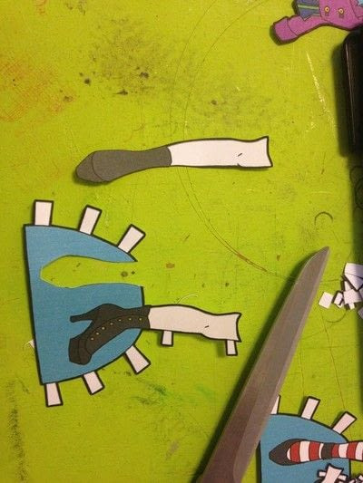 How to make a toy. Durable Paper Doll Play Set - Step 10