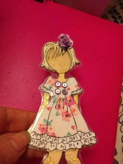 How to make a toy. Durable Paper Doll Play Set - Step 17