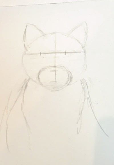 How to draw a pastel drawing. Pastel Cat - Step 6