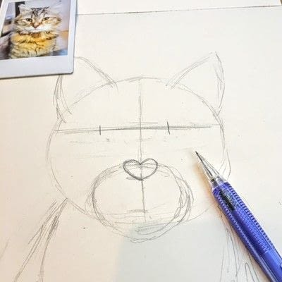 How to draw a pastel drawing. Pastel Cat - Step 7