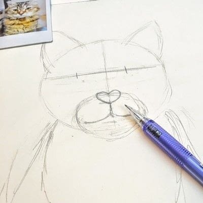 How to draw a pastel drawing. Pastel Cat - Step 8