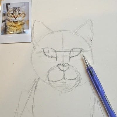 How to draw a pastel drawing. Pastel Cat - Step 9