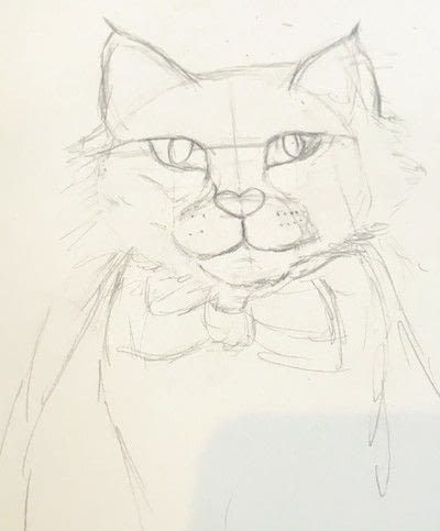 How to draw a pastel drawing. Pastel Cat - Step 13
