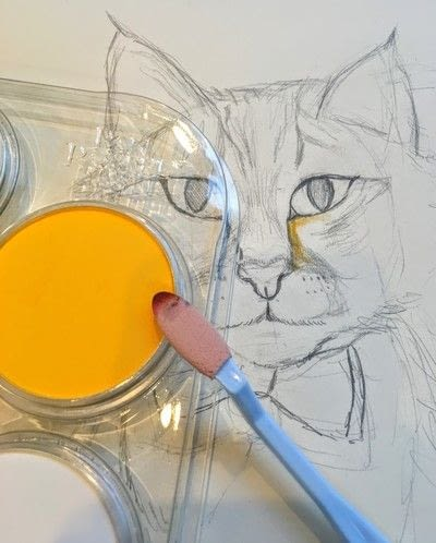 How to draw a pastel drawing. Pastel Cat - Step 17