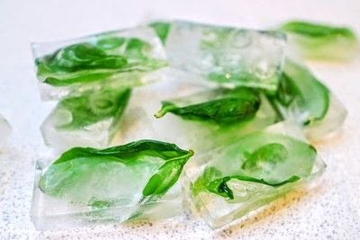 How to make your own ingredient. Herb Ice Cubes - Step 2