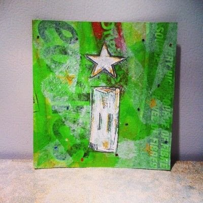 How to make a piece of CD art. Upcycled Wall Art - Step 4