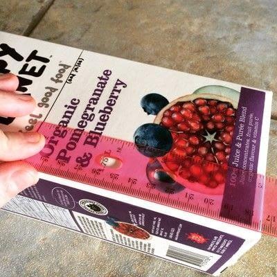How to paint a painted flower pot. Burlap Milk Carton Planter - Step 2