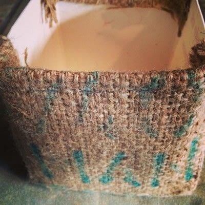 How to paint a painted flower pot. Burlap Milk Carton Planter - Step 7