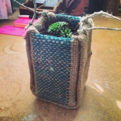 How to paint a painted flower pot. Burlap Milk Carton Planter - Step 9