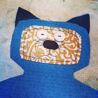 How to make a Mew plushie. Upcycled Scrap Fabric Stuffie - Step 4