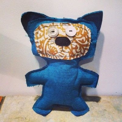 How to make a Mew plushie. Upcycled Scrap Fabric Stuffie - Step 5