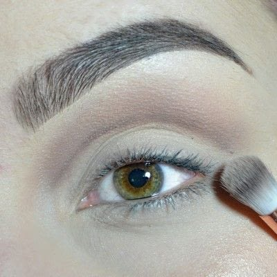 How to create a cut crease eye makeup look. Cut Crease with gold & brown shades! - Step 2