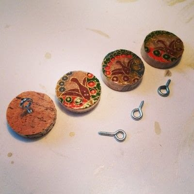 How to make a dangle earring. Upcycled Wine Cork Jewelry - Step 9