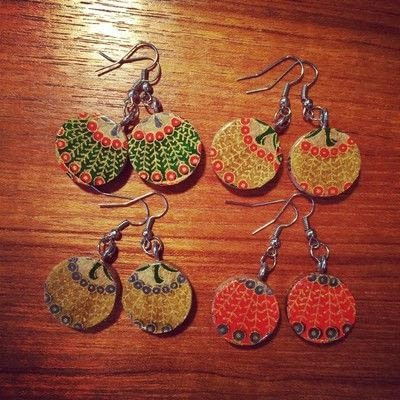 How to make a dangle earring. Upcycled Wine Cork Jewelry - Step 10