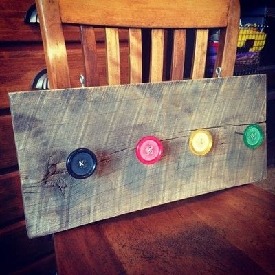 How to make a hook or rack. Salvaged Wood Organizer - Step 9