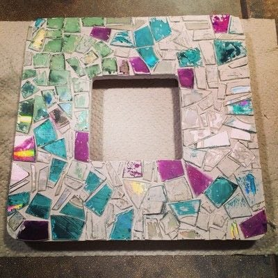 How to decorate an embellished photo frame. Repurposed Cd Mosaic Frame - Step 6