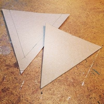 How to make bunting. Upcycled Fabric And Burlap Bunting - Step 1