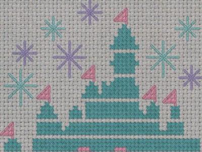 How to cross stitch . Magical Disney Castle Cross Stitch - Step 2