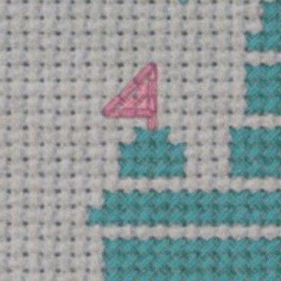 How to cross stitch . Magical Disney Castle Cross Stitch - Step 3